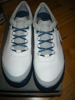 ECCO GOLF CAGE  GOLF SHOES 45 US  11-11.5  WHITE/ROYAL BLUE