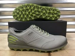 ECCO Golf Cage Pro Golf Shoes Spikeless Concrete Gray Green