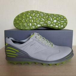 ECCO Golf Cage Pro Spikeless Golf shoes Concrete Gray Green