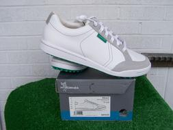 Ashworth Golf Cardiff White & Green Spikeless Golf Shoes US