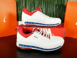 ECCO Golf Cool 18 GTX Gore-Tex Golf Shoes White Red Blue 130