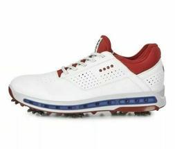 ECCO Golf Cool 18 GTX Gore-Tex Golf Shoes White Red USA Mens