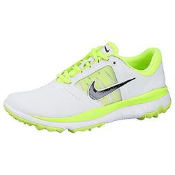 Nike Golf women's FI Impact Golf Shoe, White/ Neon Green, 5