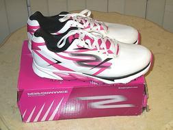 New Womens Golf Shoe Sketchers Go Golf Blade 9.5 White/Pink/