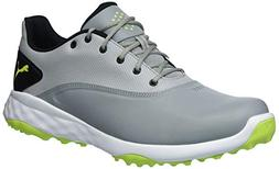PUMA Golf Men's Grip Fusion Shoe, Quarry/Acid Lime/Black, 11