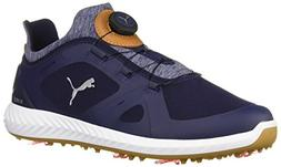 PUMA Golf Men's Ignite Pwradapt Disc Golf Shoe, Peacoat/Whit
