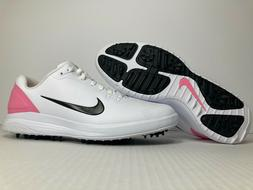 NIKE GOLF INFINITY G Mens Golfing Shoes Cleats Spikes - Whit