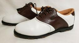 Ashworth Golf Shoes, #82426 White/Brown Leather, Women's US