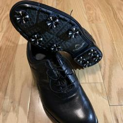 Callaway Golf Shoes Cleats Black Leather Men's 10.5 New With