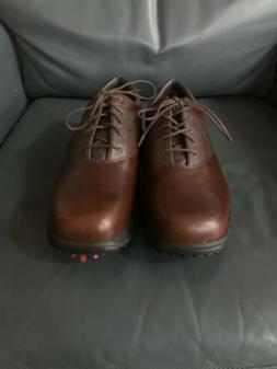 golf shoes cleats brown leather men s