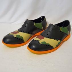 Biion Golf Shoes Mens Size 9 Camo/black/ORANGE NWOT