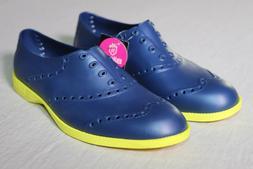 BIION Golf Shoes - Navy Blue / Yellow - Men's 4 Women Size 6