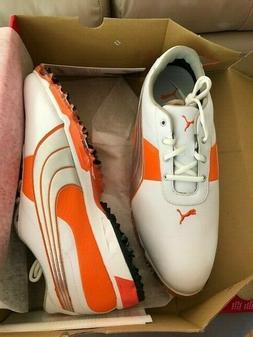 PUMA Golf Shoes - Orange/White - New - Size 13M