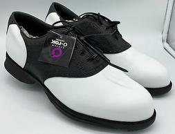 Etonic Golf Shoes Saddle White/Black Size 9.5 W New Without