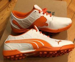 Puma Golf Shoes Size 5 White Orange Women's NEW Sport Life