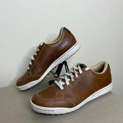 Ashworth Golf Shoes Sneakers Cardiff Brown Leather G54214 Me