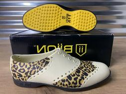 Biion Golf Shoes The Oxford Patterns Leopard Print Womens SZ