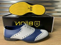 Biion Golf Shoes The Wingtips Gray Silver Navy Blue Womens S