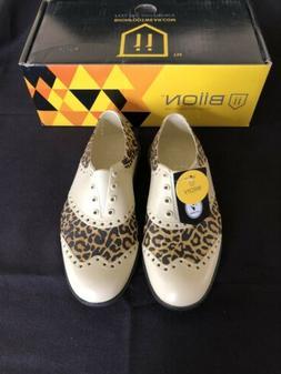 Biion Golf Shoes - Women Oxford Pattern Leopard, Weightless