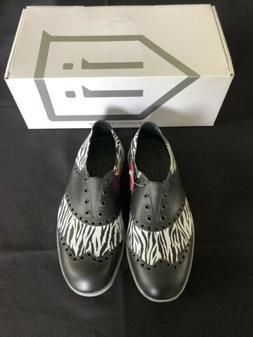 Biion Golf Shoes - Women Oxford Pattern Zebra, Weightless Pr