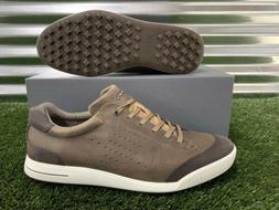 ECCO Golf Street Retro Spikeless Golf Shoes Birch Coffee Bro
