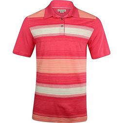 Ashworth New Men's Golf Yard Dye Ombre Polo Shirt Pink Jaspe