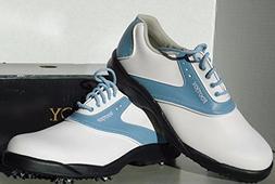 FootJoy GreenJoys Golf Shoes 48435 Women's White/Blue 9.5 Me