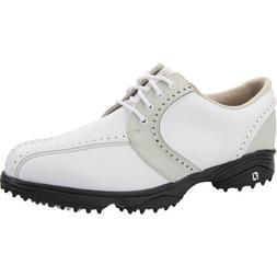 Footjoy Ladies Greenjoys Saddle Golf Shoes White/Cloud 7 Med
