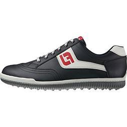 Men's Footjoy GreenJoys Spikeless Golf Shoes Black/Grey/Red
