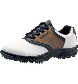 FootJoy Men's GreenJoys Spiked Golf Shoes, Close-Out, White/