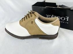 FootJoy GreenJoys Womens Golf Oxford Shoes White Two Tone La