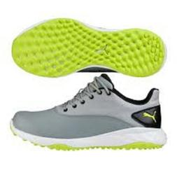 Puma Grip Men's Fusion Golf Shoes 189425-04 Quarry/Lime