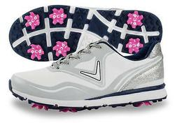 Callaway Ladies Halo Golf Shoes White/Navy 8.5 Medium