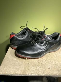Footjoy Hydrolite 50048 Black Lace Up Spiked Golf Shoes Mens