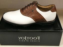 FootJoy Icon Men's Golf Shoes 9.5M White/Brown Lizard Were $