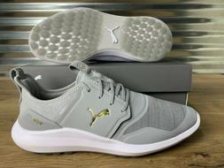 PUMA Ignite NXT Lace Spikeless Golf Shoes HIgh Rise Gray Gol