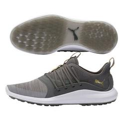 Puma Ignite NXT Solelace Golf Shoes 2019 - Gray/White/Gold -
