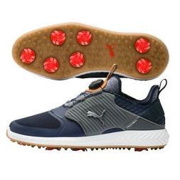 New Mens Puma Ignite PWRADAPT Caged Disc Golf Shoes Peacoat