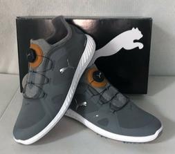 Puma Ignite PWRADAPT Disc Mens Golf Shoes - Quiet Shade Gray
