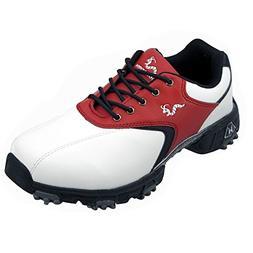 Woodworm Jr Golf Shoes Y4 Red/Blk/Wht
