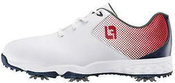 FootJoy Junior DNA Helix Golf Shoes 45014 White/Navy/Red Kid