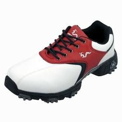 Woodworm Junior Golf Shoes Youth Red/Black/White 1 Year Wate