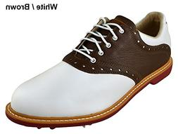 Ashworth Kingston Golf Shoes 2014 White/Tan Brown/Bordeaux M
