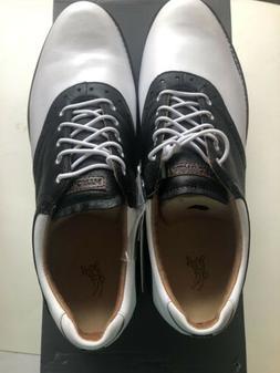 kingston golf shoes white black azure size