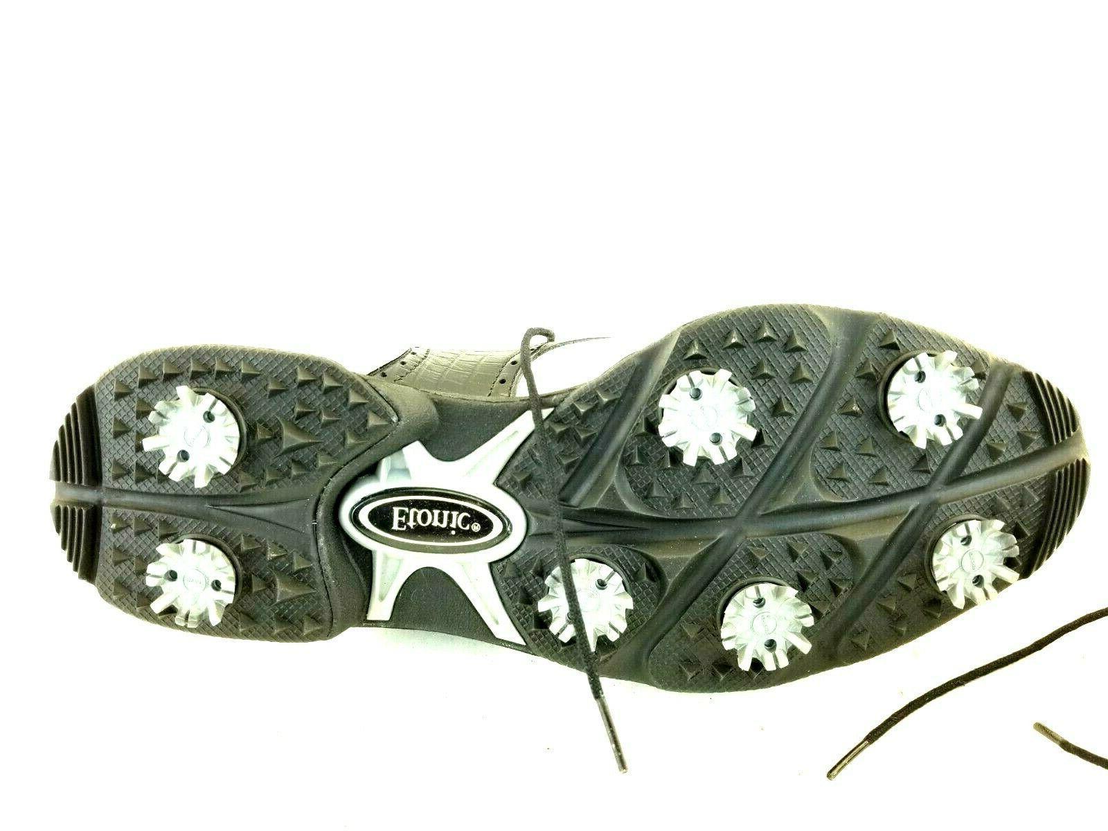 Etonic Mens Dri-Lite 400 White Black Shoes
