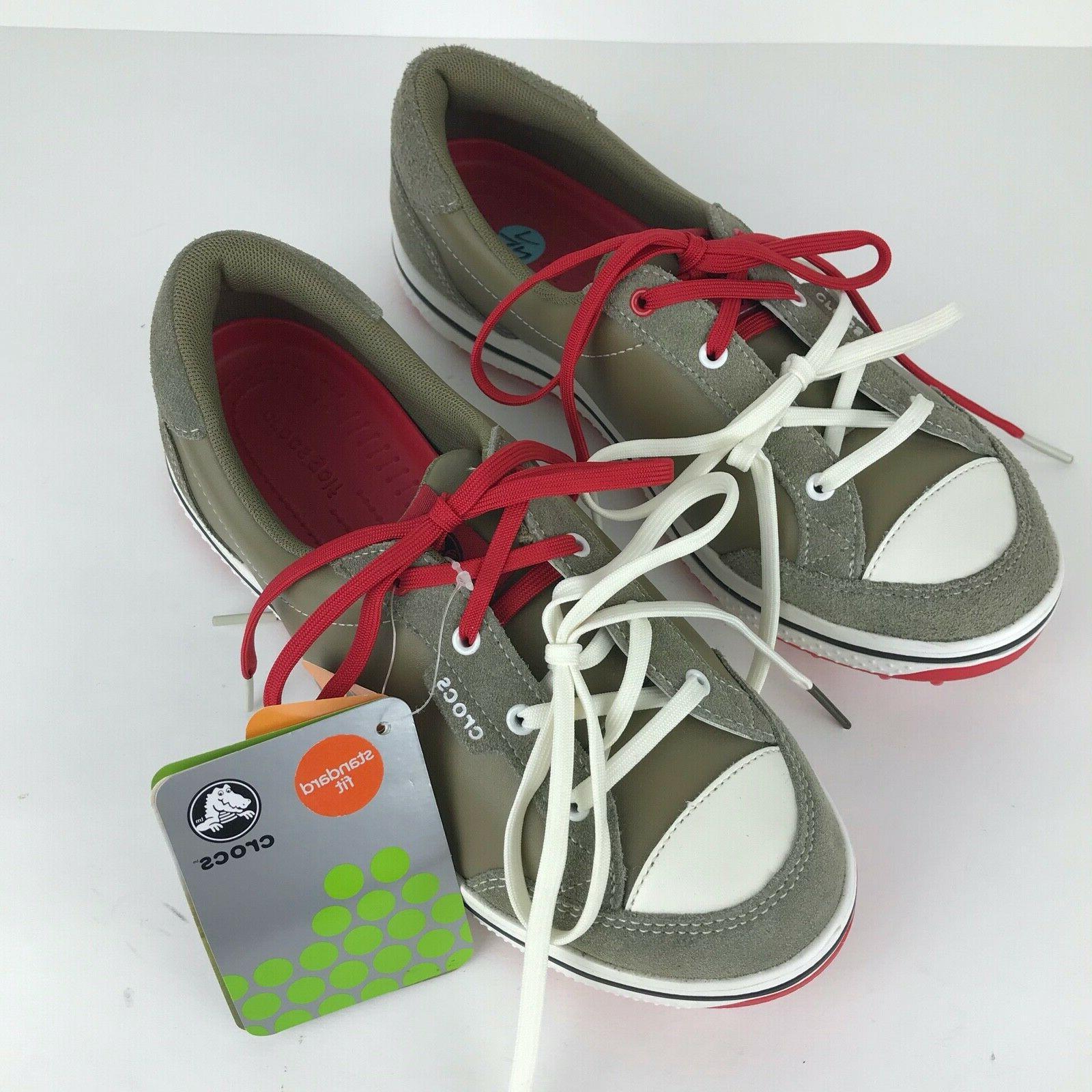 crocs Women's 15371 Bradyn2 Golf Shoe,Black/Gold,6 M US