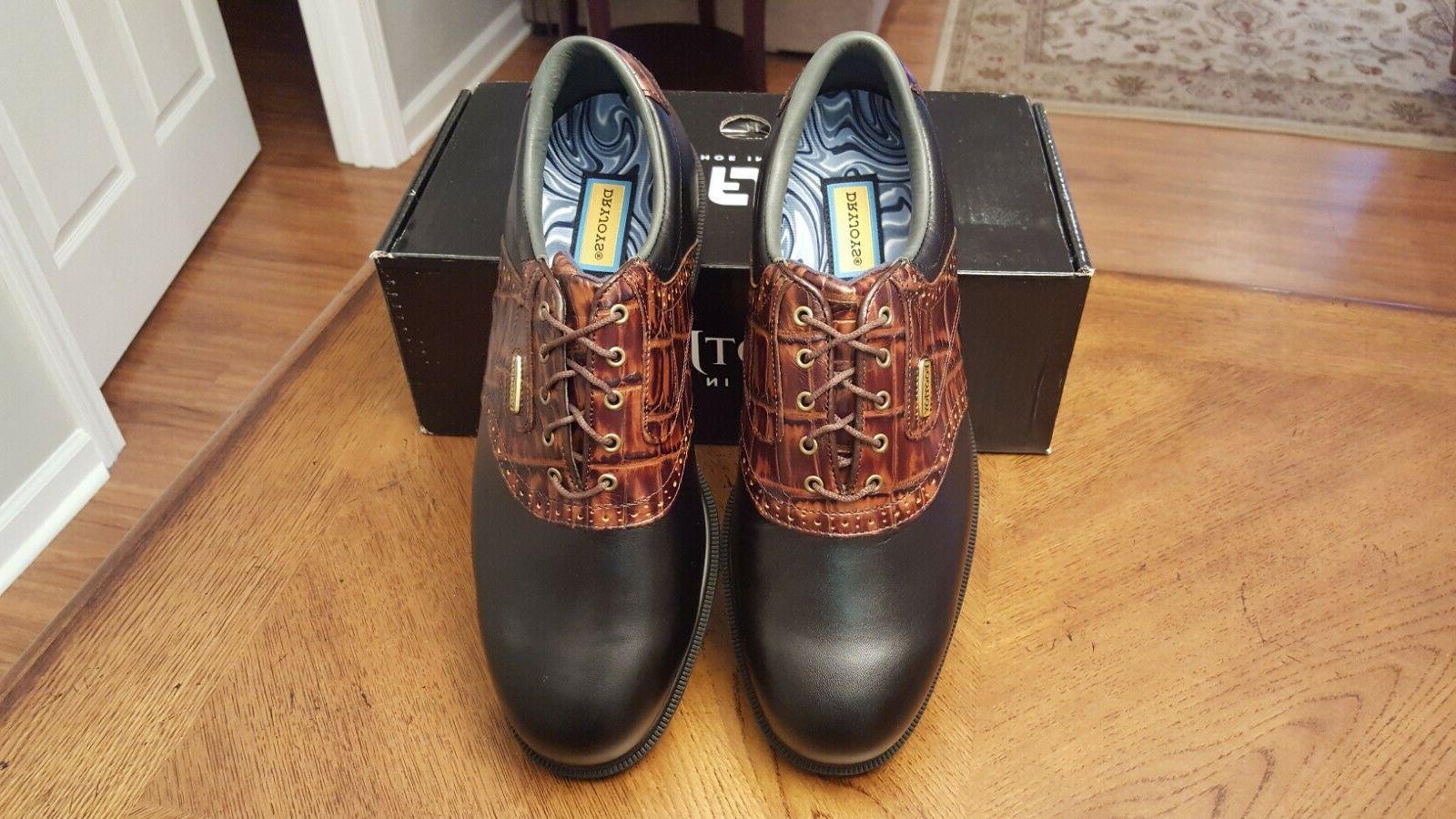2014 Footjoy Dryjoys Golf Shoes Blk/Brn $199 RET Beautiful