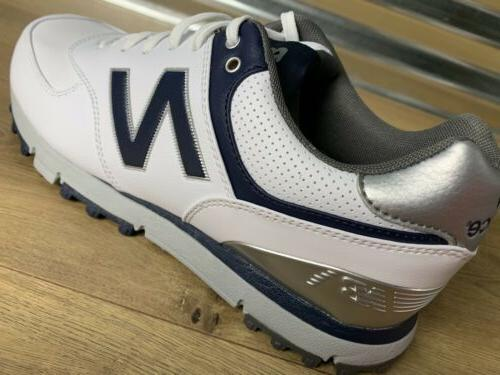 New 574 Spikeless Golf White Blue