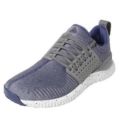 adicross bounce spikeless golf shoes blue gray
