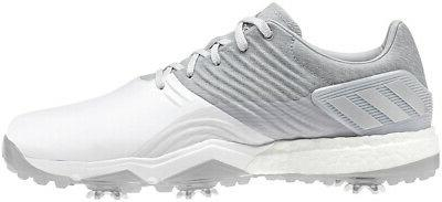 adipower 4orged golf shoes silver white choose